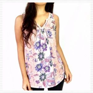 ANTHRO Floral Rope Tank